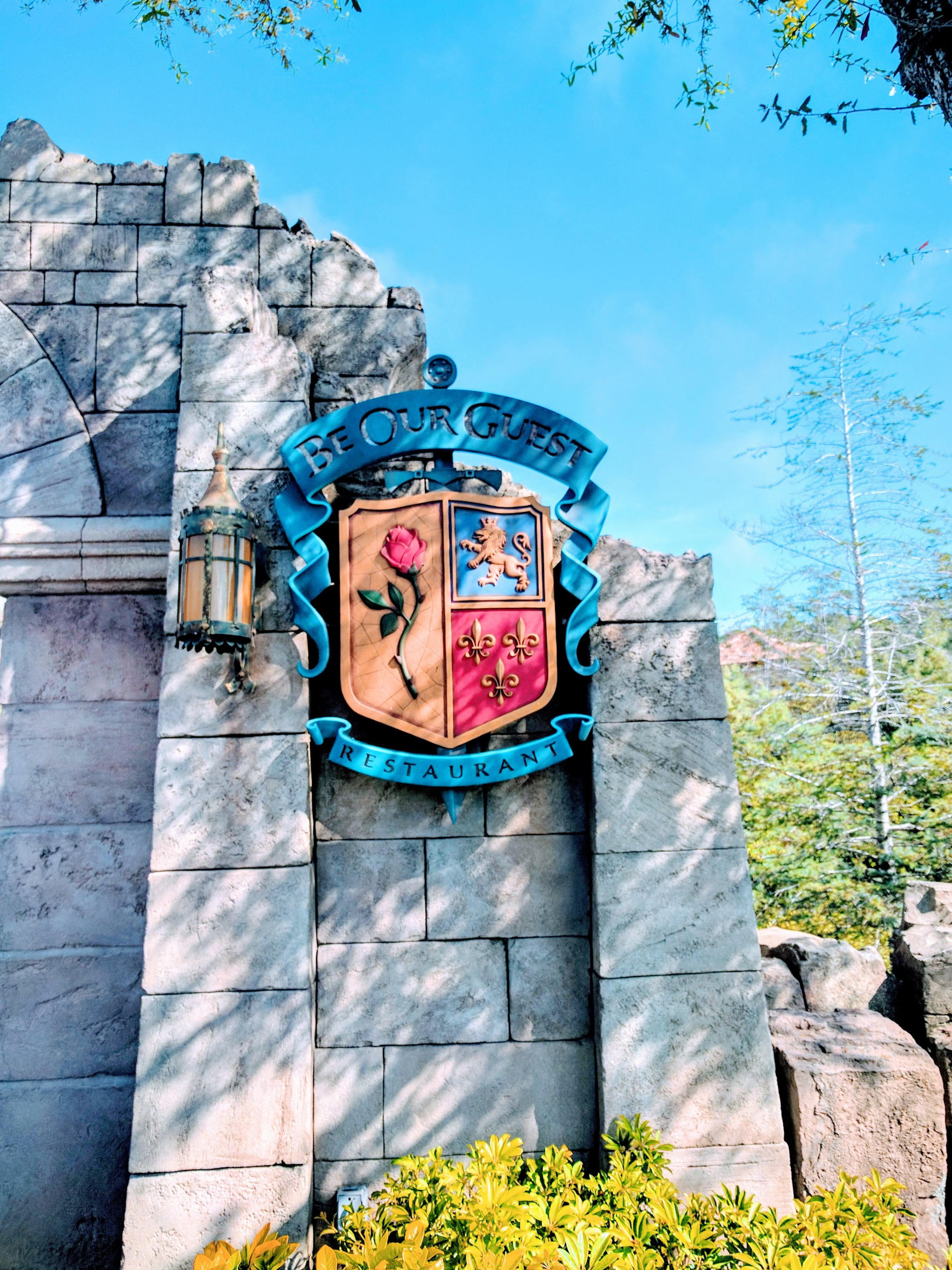 Located in New Fantasy Land behind the Seven Dwarves Mine Train, Be Our Guest is hard to miss with it's large bridge over the moat leading to Beast's Castle.