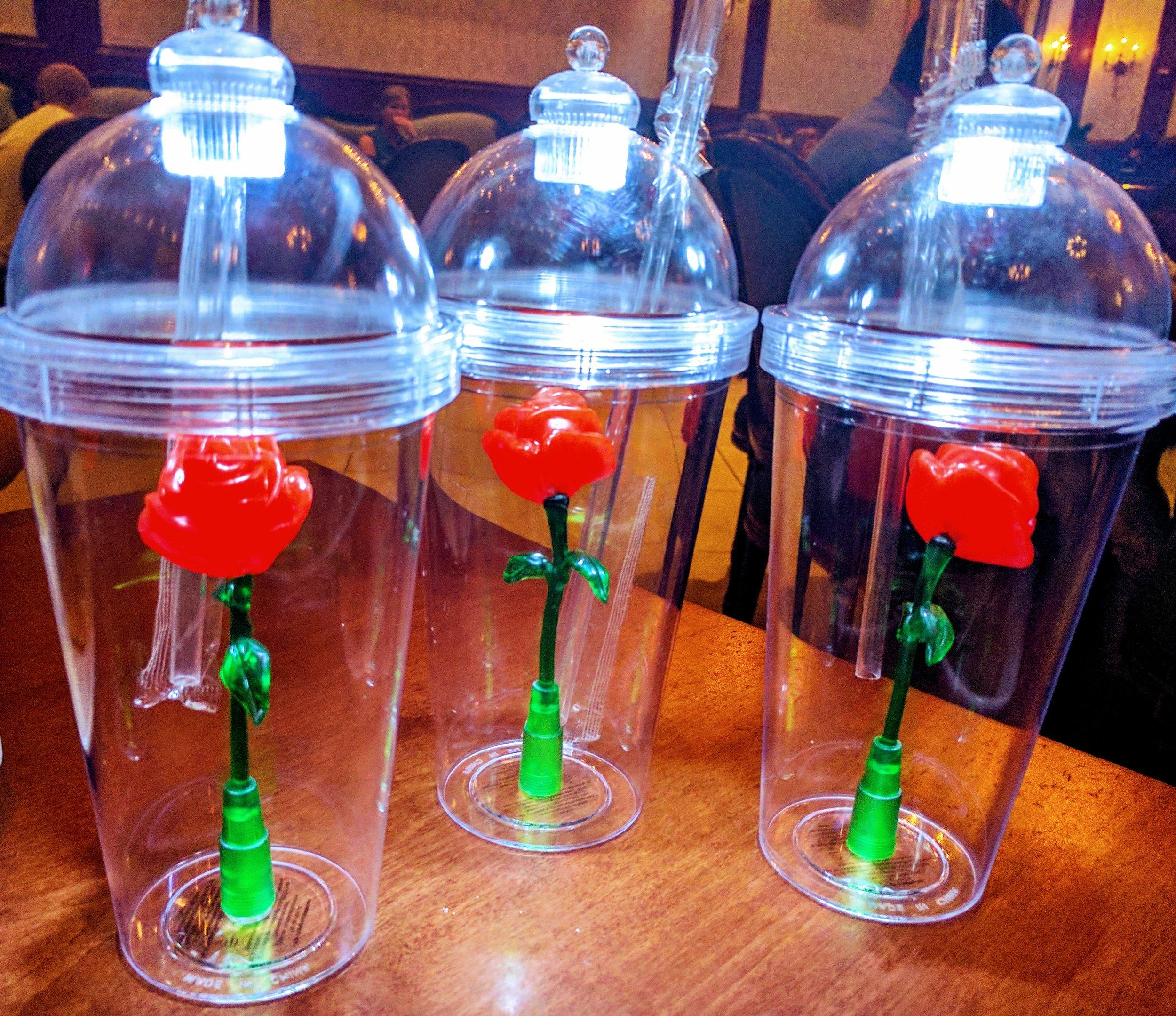 The Enchanted Rose Souvenir Glasses