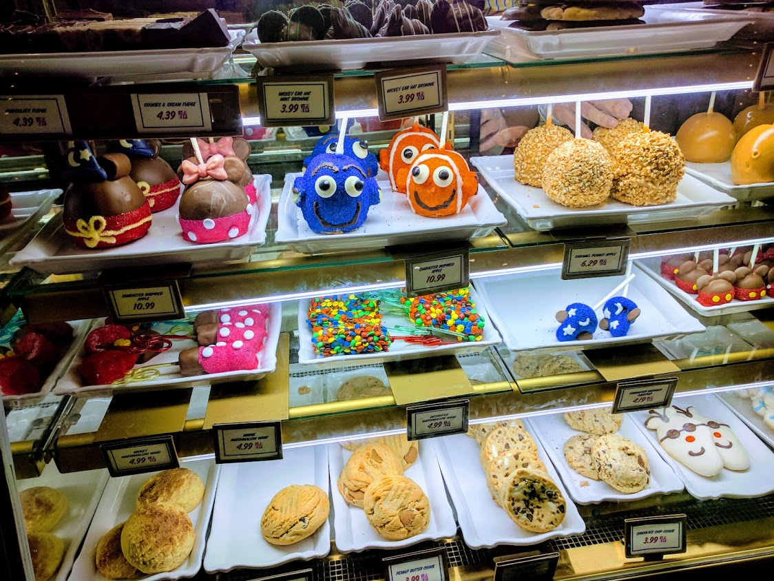 One of several treat display cases; so many options so little time!