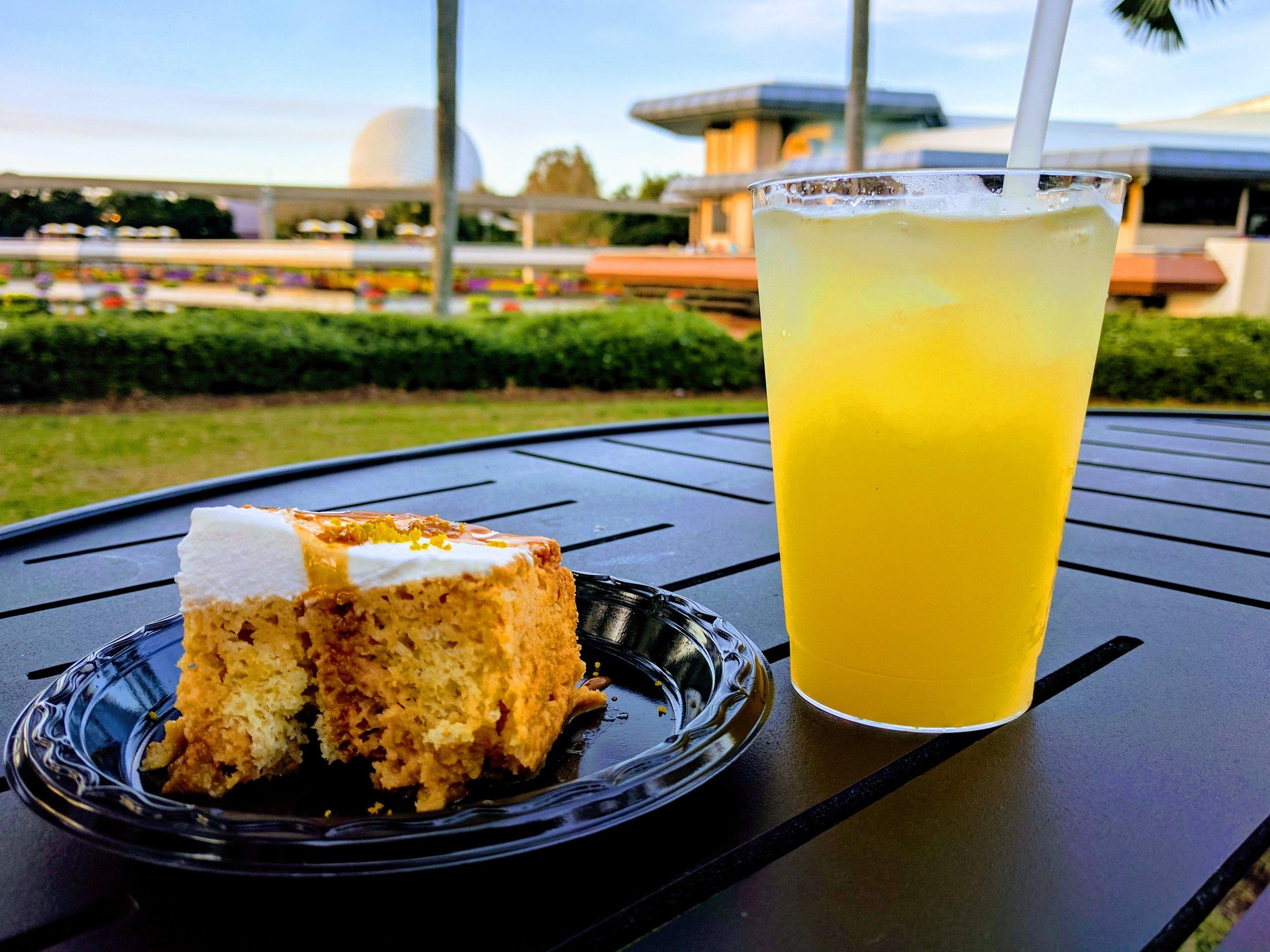 Tres Leche cake and the Elderflower Pineapple Margarita
