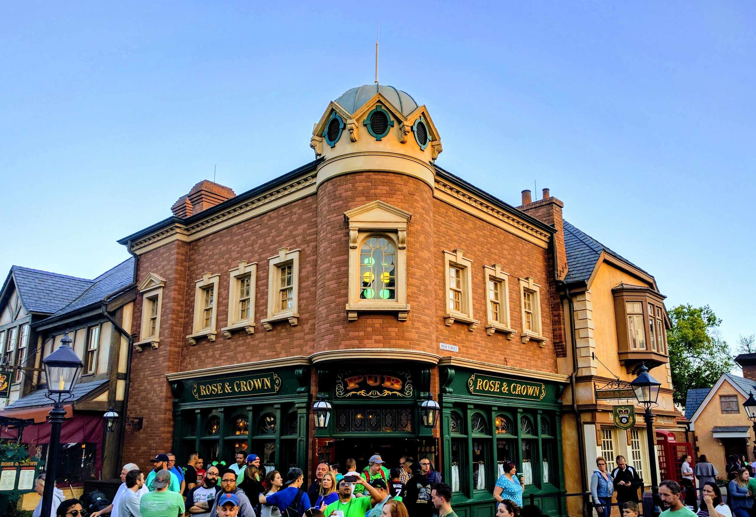 Rose & Crown is located in the UK pavilion.