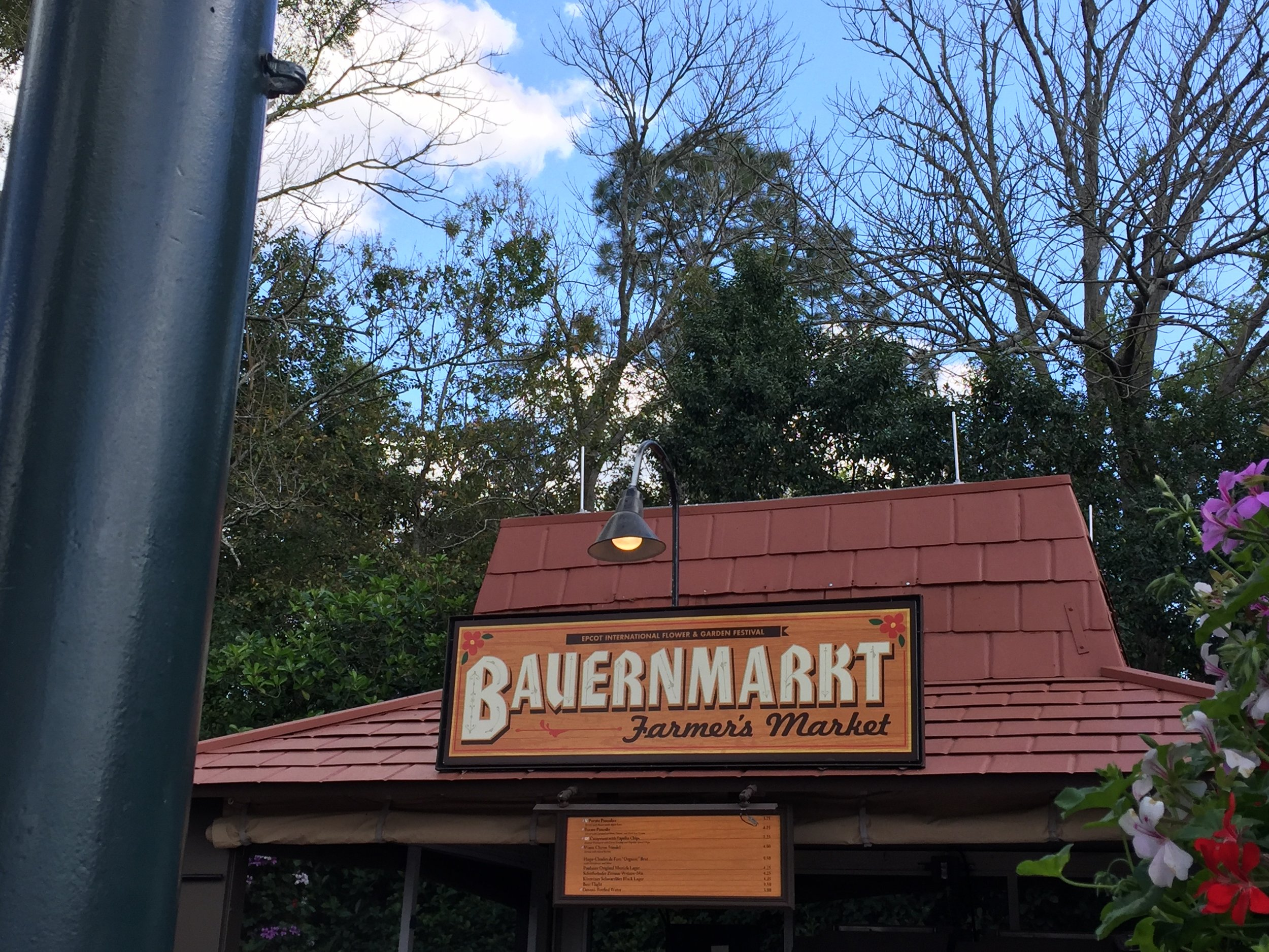 Bauernmarkt is located next to the bandstand in the Germany Pavilion.