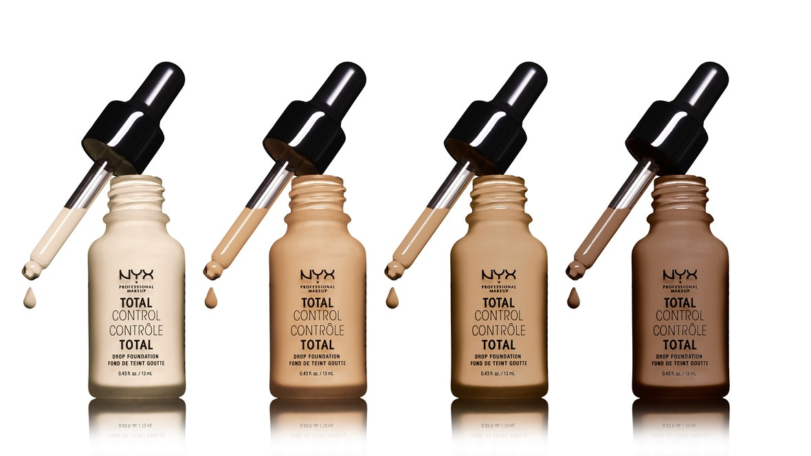 A dreamy product available at Shoppers Drug Mart!    NYX    Total Control Foundation reminds me of a serum with it's cute little dropper. The beauty is that 1, 2, or 3 drops will take you from light to medium to full coverage.