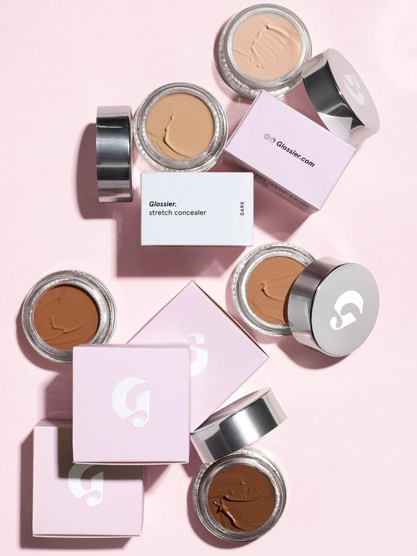 """The    Glossier Stretch Concealer    is literally the bomb.com and their own creation Balm dot com is equally fab too. I had the absolute pleasure of going to their private movie night when Glossier took TO and """"popped"""" up a showroom on Queen West. As I stood in line to get what I came for (the    Phase 1 kit   ) I took a selfie and quickly realized the concealer needed to come home too."""