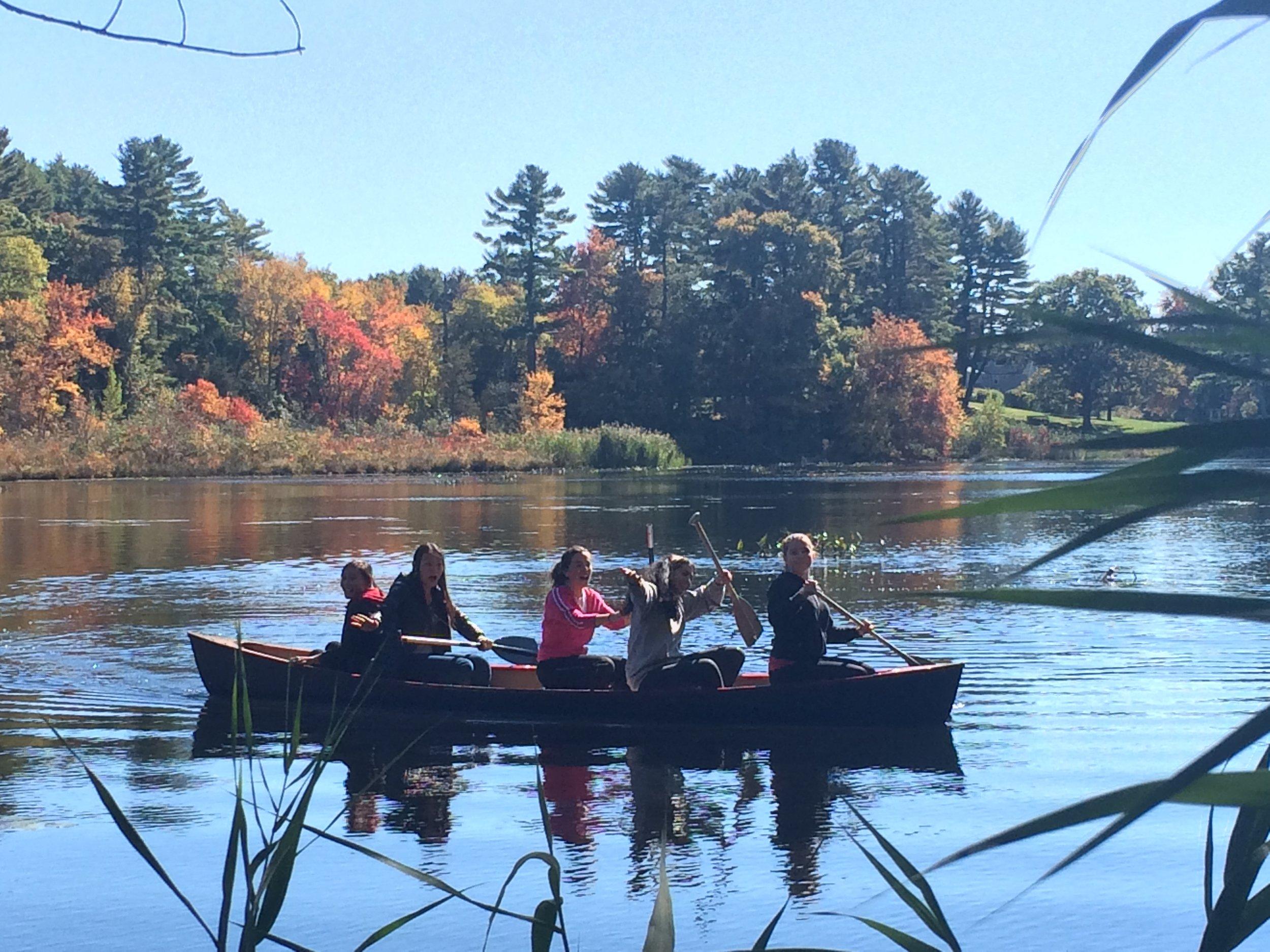 Boat ride at Arnold Hall