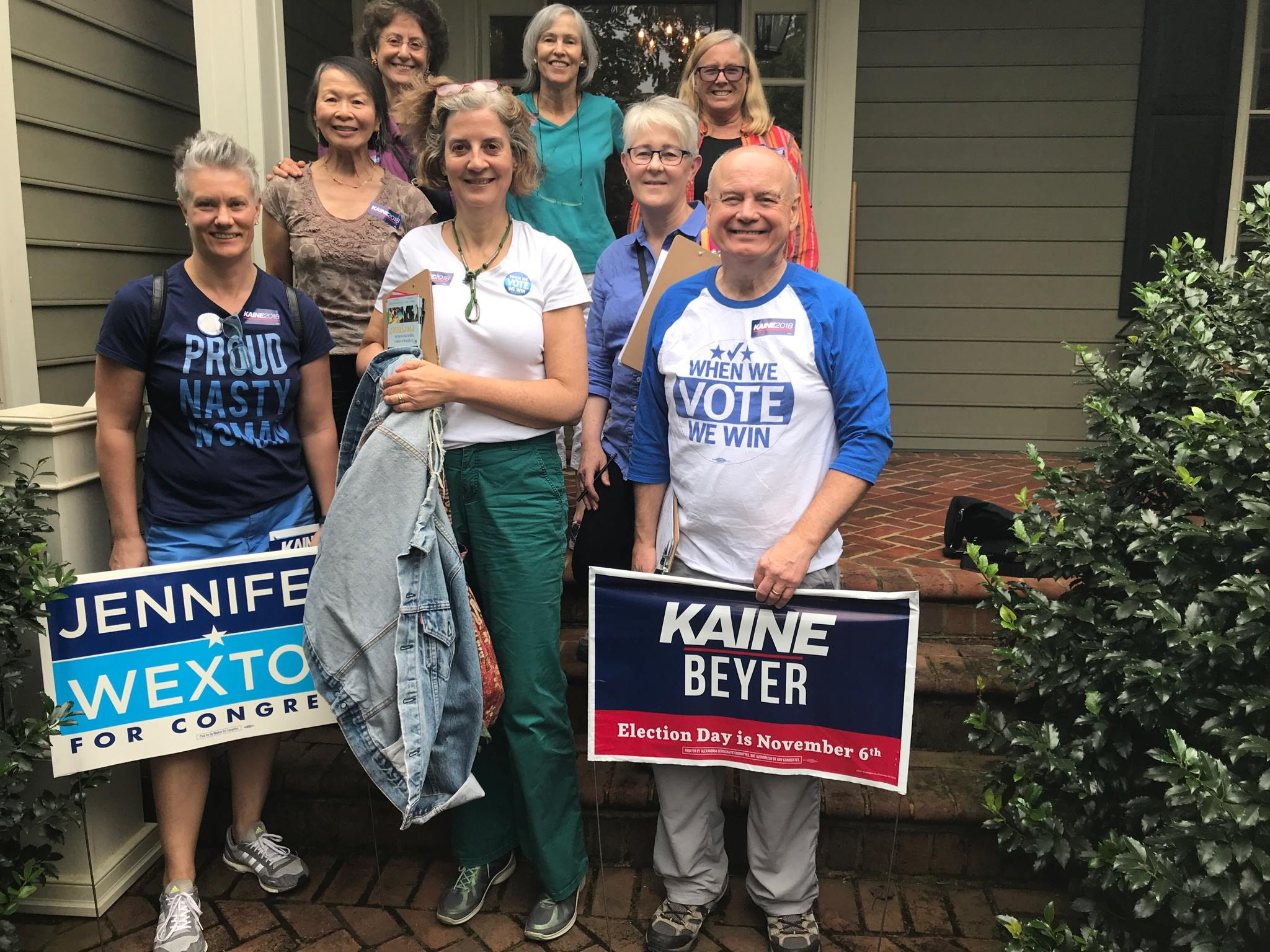 Canvassing for Jennifer Wexton (VA 10) and Tim Kaine