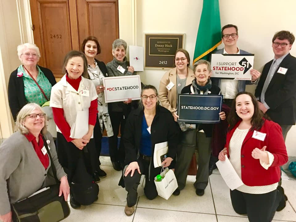 NOPE members join others at DC Statehood Capitol Hill Day to lobby Congress about statehood.