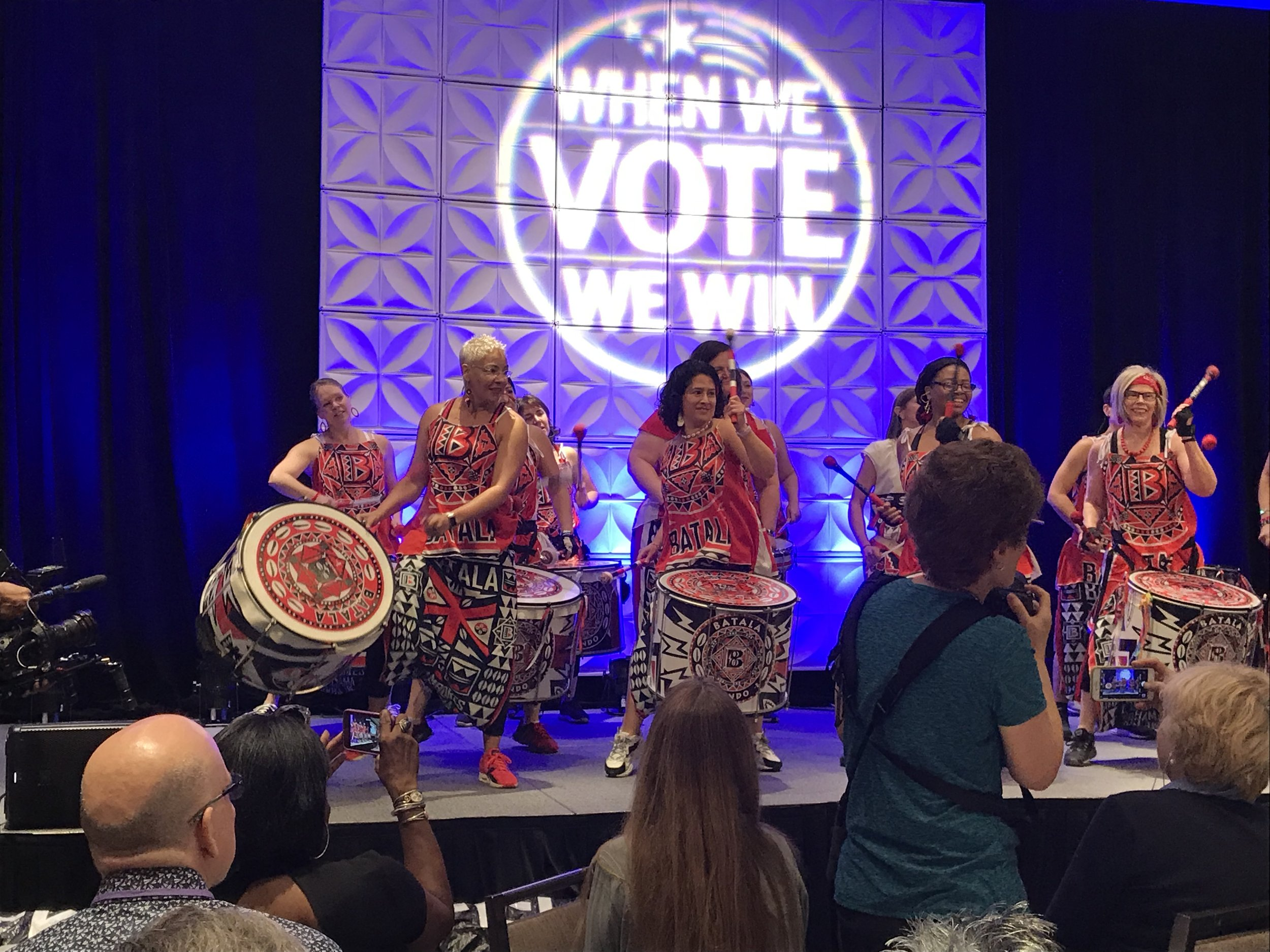 The amazing women's drum corps performing at the Virginia Women's Summit. (June 2019)