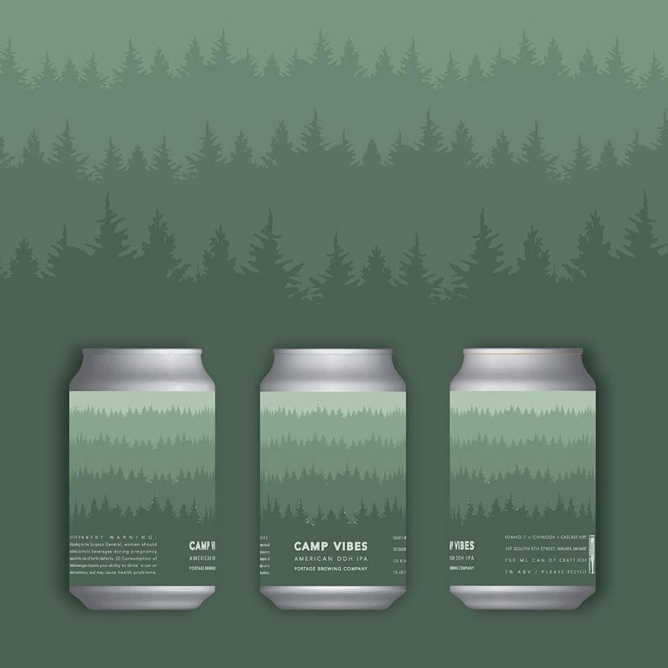 The inspiration for our design. Camp Vibes - the final crowler released at Portage before the fire.