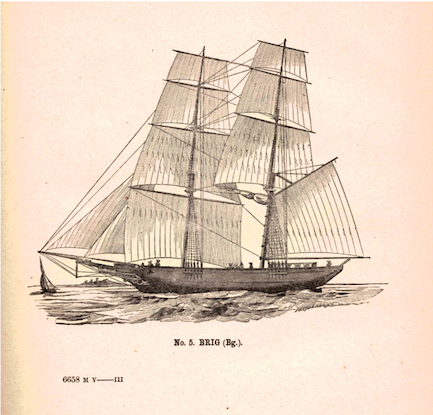 Illustration of a brig from a federal government publication.