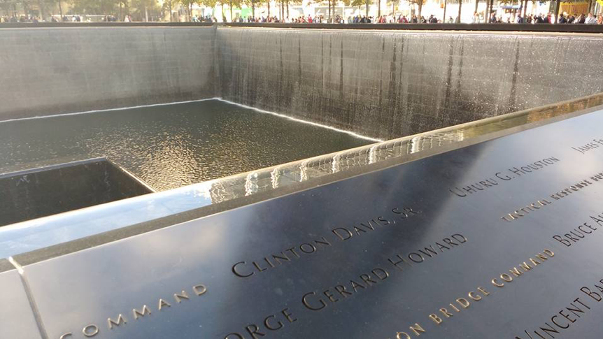 World Trade Center Memorial, photo from Jennifer Vannette