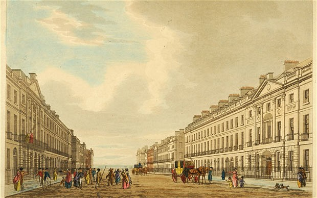 Portland Place in around 1796  (source: telegraph.co.uk)