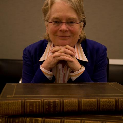The author and guest speaker, Dr Lynn Hunt