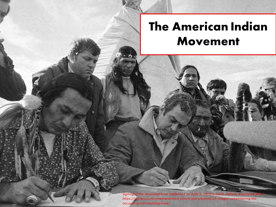 Signing of Wounded Knee Settlement 1973