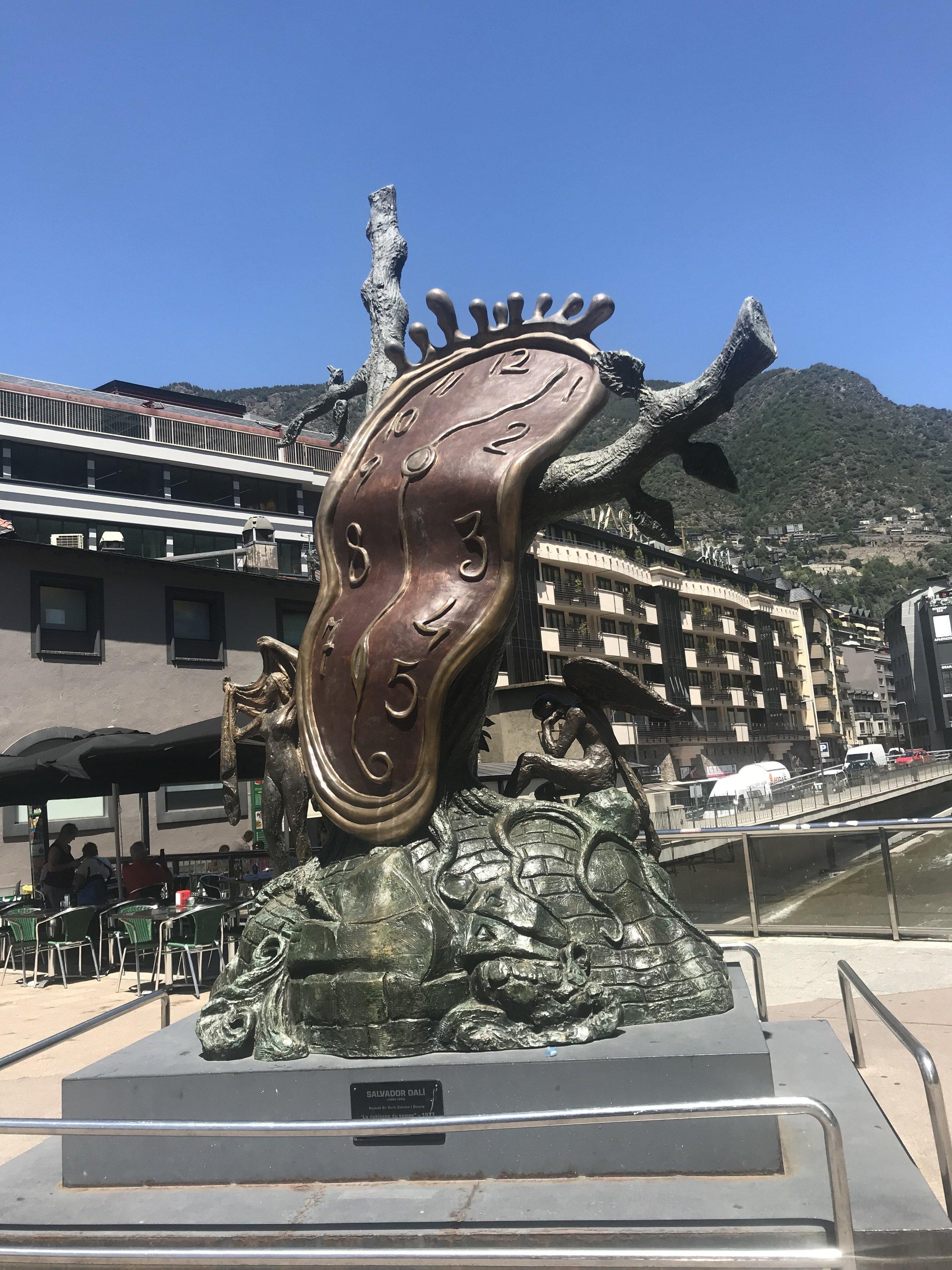 Salvador Dali Statue in Andorra
