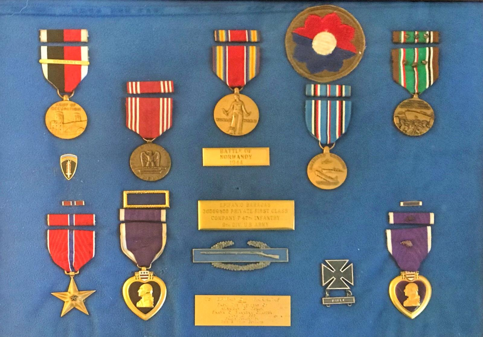 Selection of Private First Class Epifanio V. Barajas Medals