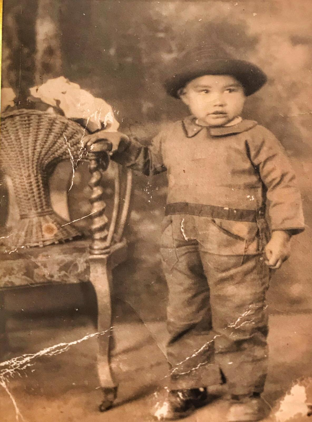 Young Epifanio V. Barajas ca. 1923-1924