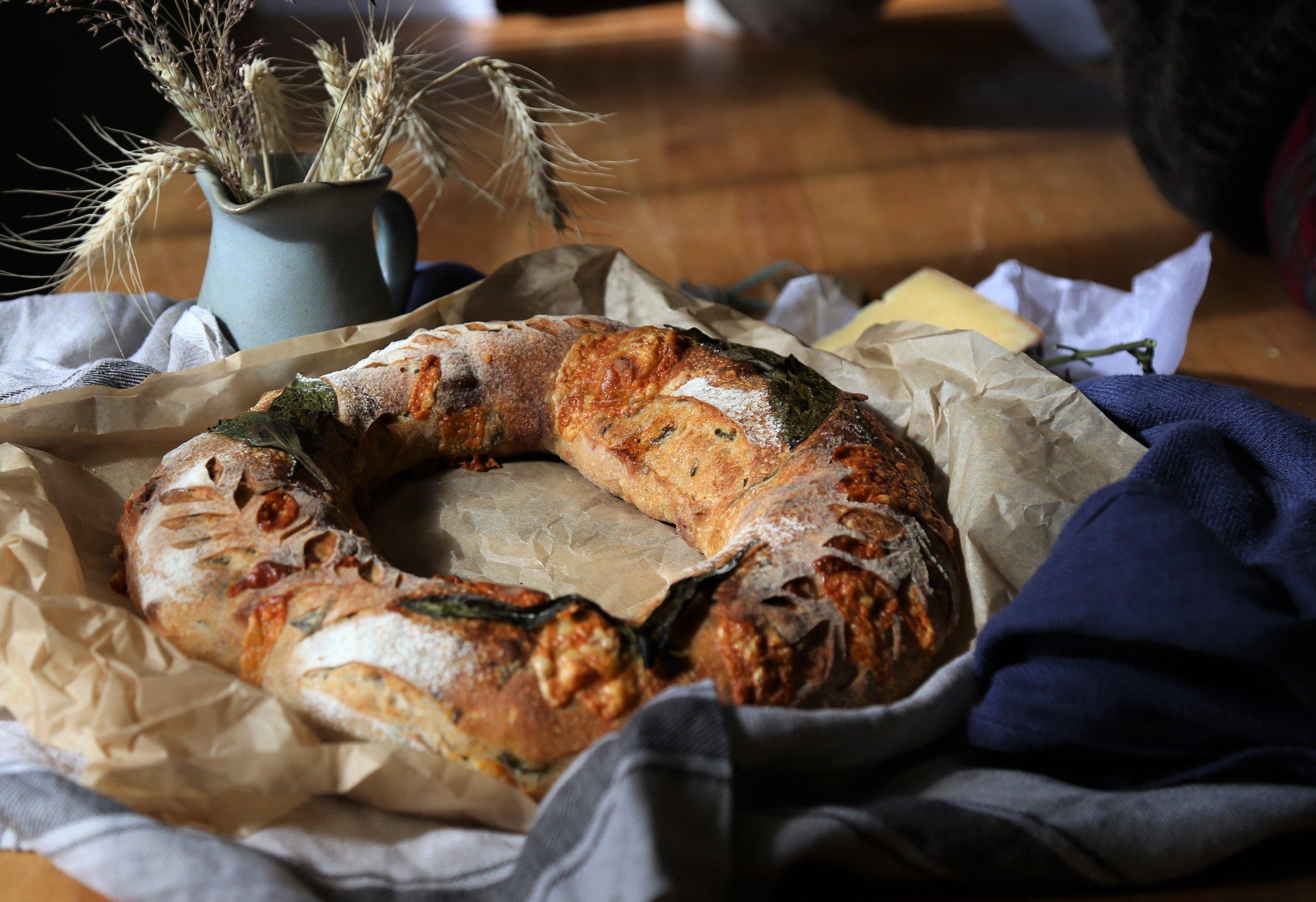Rustic wild garlic picnic bread 1.jpg