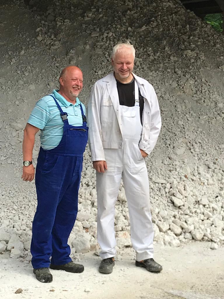 Steffen Gottschling and Andreas Kawka who operate Europe's smallest working mine