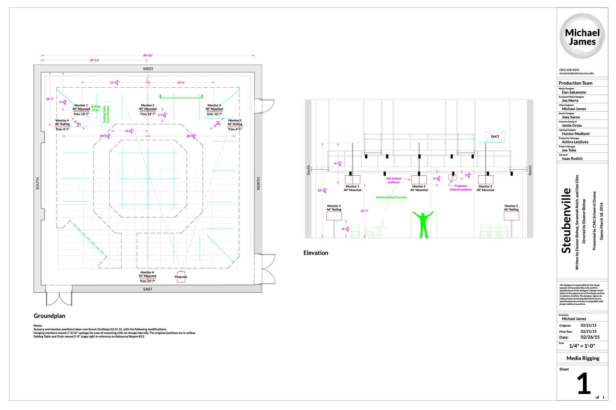 Steubenville Media Groundplan & Elevation (role: Video Engineer)