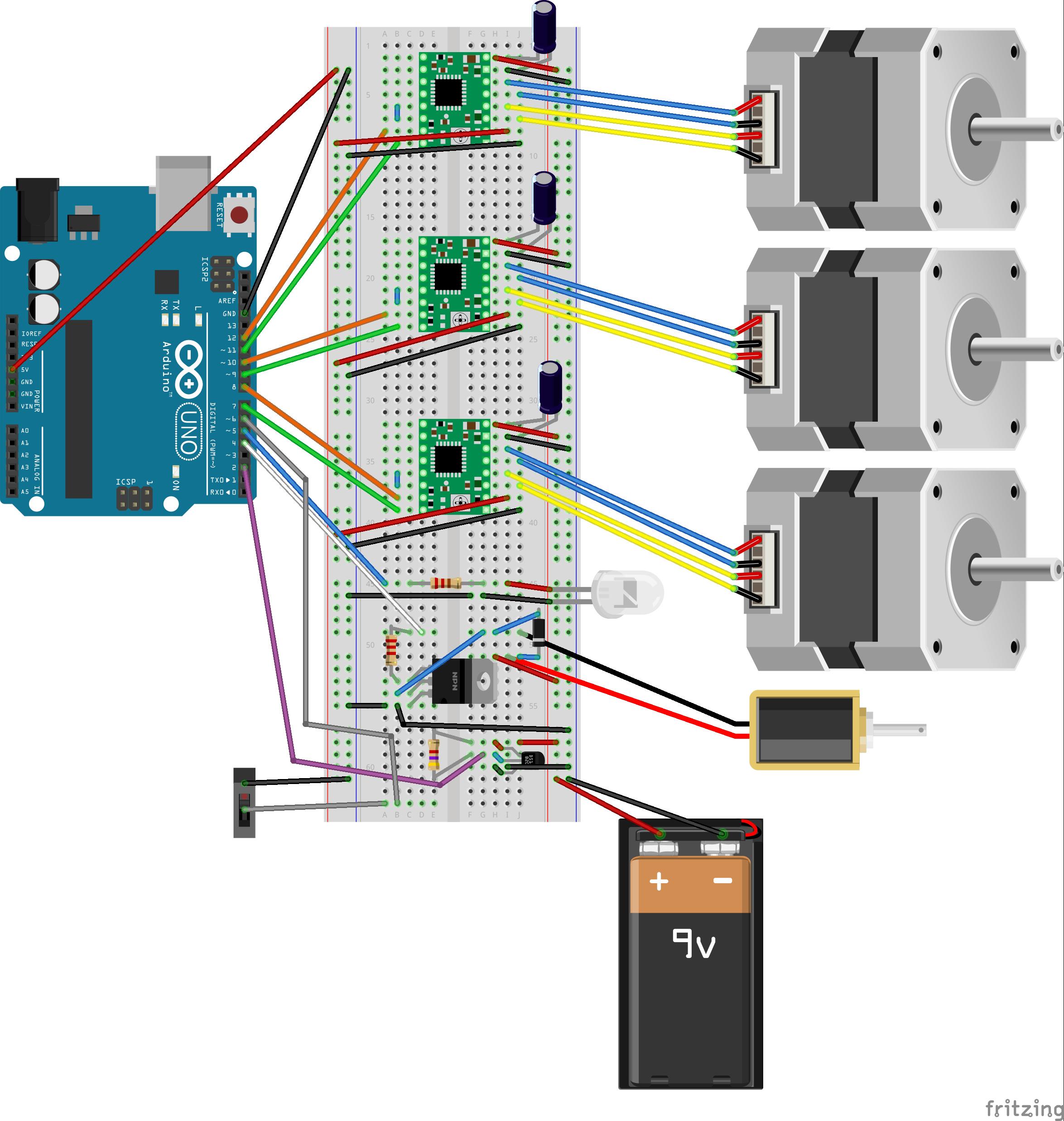 fritzing diagram of final circuit