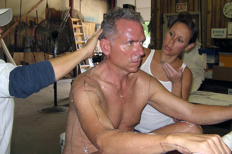 Pressing in the Bentonite