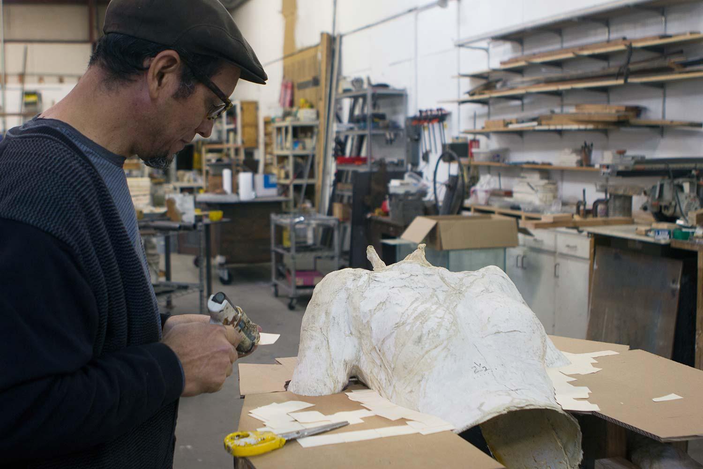 Jose Rodriguez working on Ground Plane