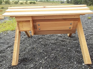 Danann Design Top Bar Bee Hive with viewing glass