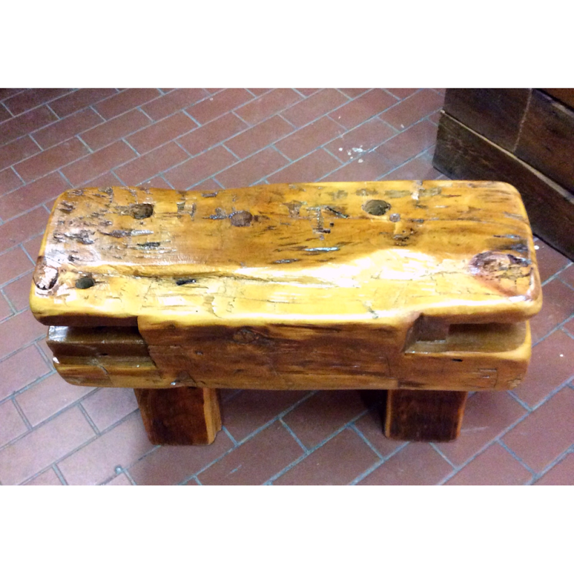 $ Inquire   Mini versions of our large beam benches. They are completely made of salvaged barn wood and have been sanded down so they have a smooth touch. Each piece varies.