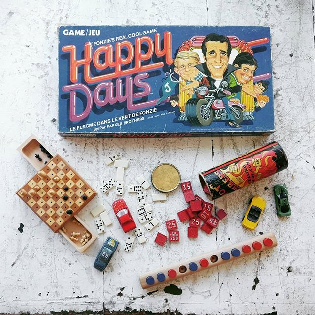School's out for the summer! We've got a great selection of vintage games for all ages.  Come by and challenge us to a game of dominoes! . . . . . #junctionstores #junctionto #antiques #salvage #nostalgia #vintage #funandgames #summerfun #happydays #lawnbowling #squashracket