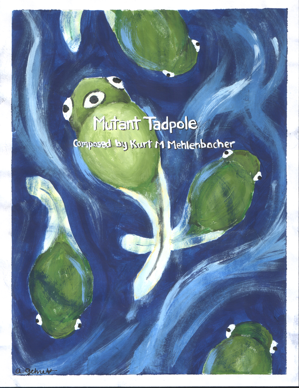 Mutant Tadpole    for woodwind sextet (flute, oboe, Bb clarinet, F horn, bassoon, and contrabassoon)