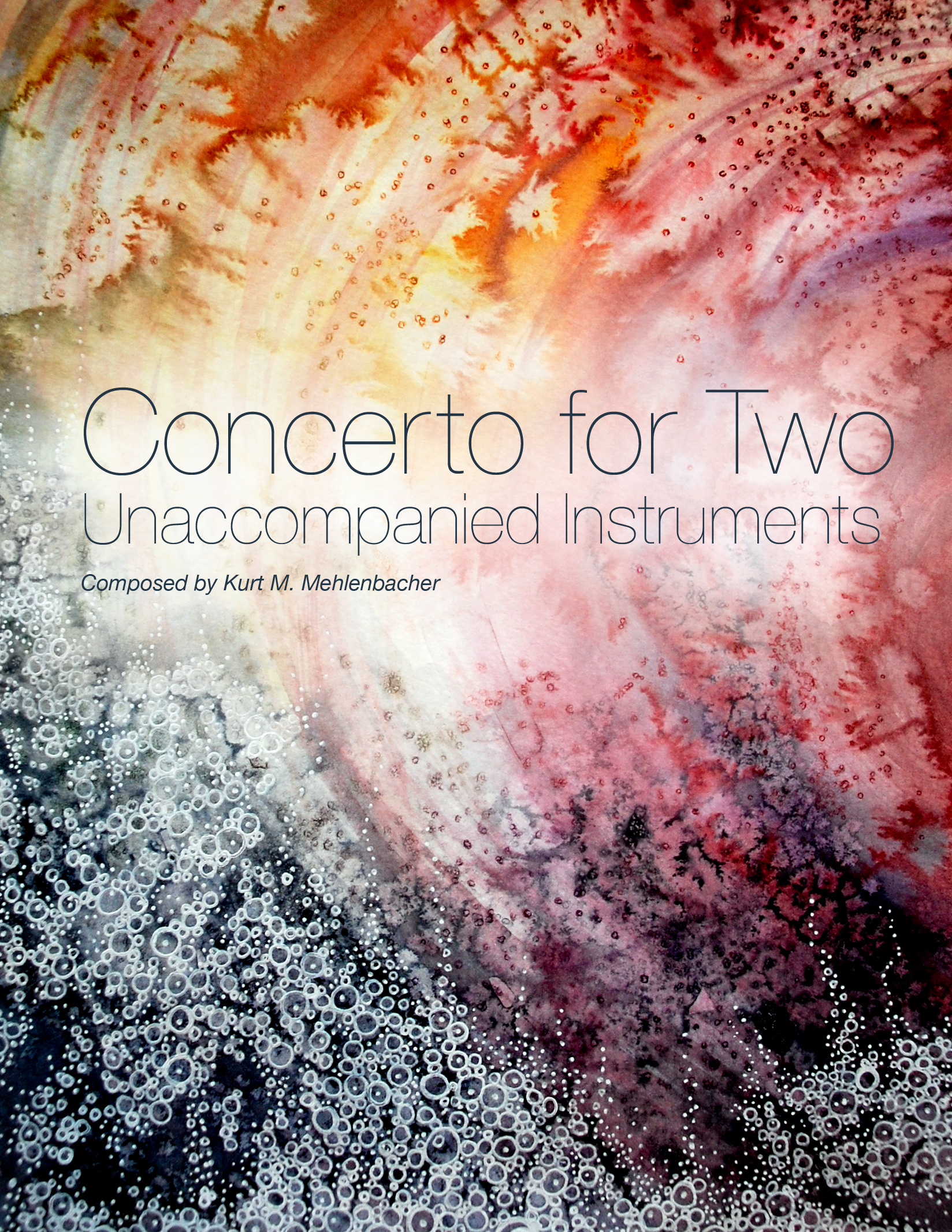 Concerto for Two Unaccompanied Instruments        for 2 instruments for similar range and timbre