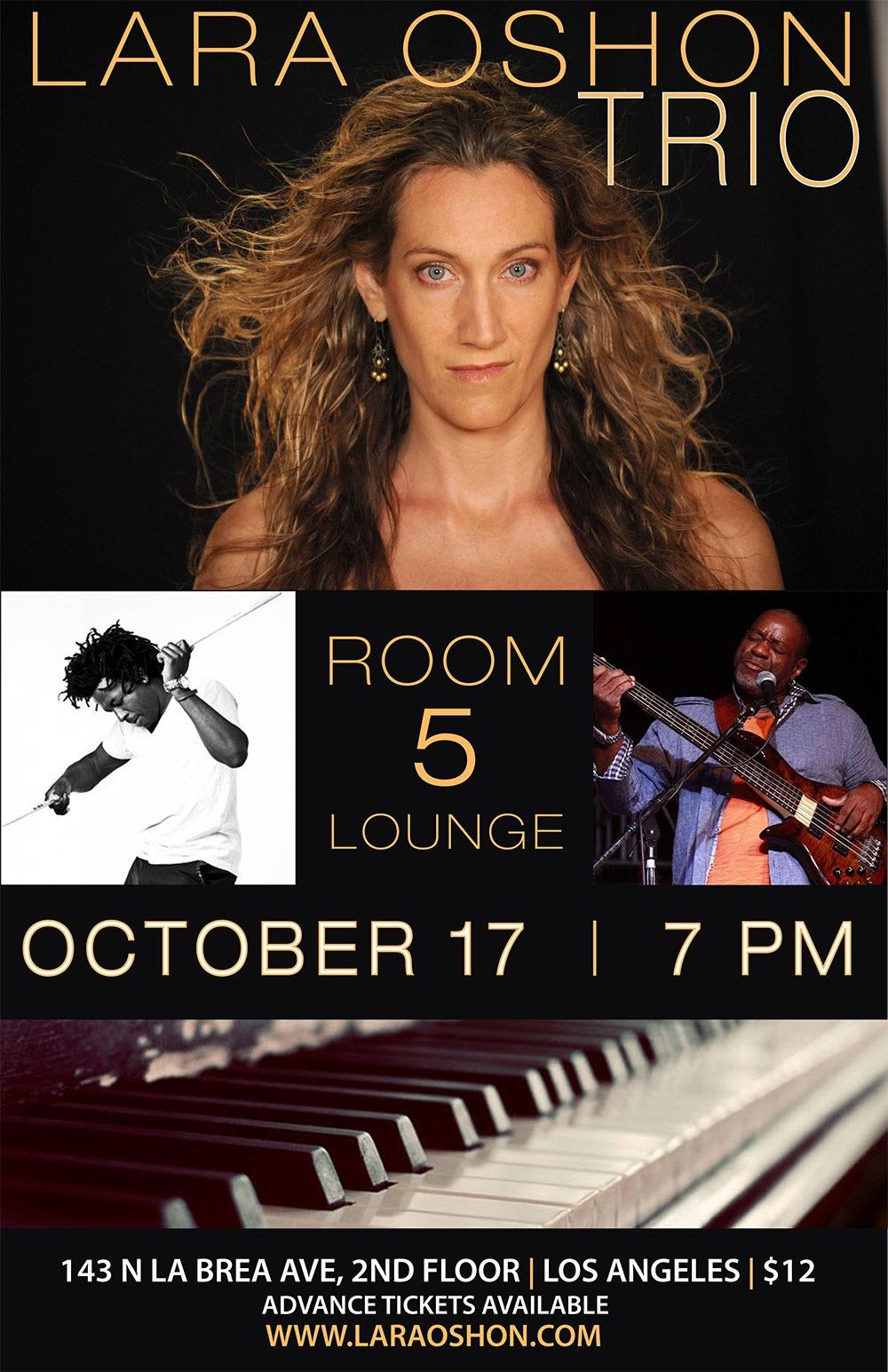 Lara Oshon Trio Room 5