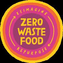 Zero Waste Food: Reimagine . Repurpose Logo