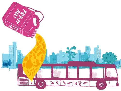Bio Diesel Bus Public Transportation Ecological Fry Oil Reuse