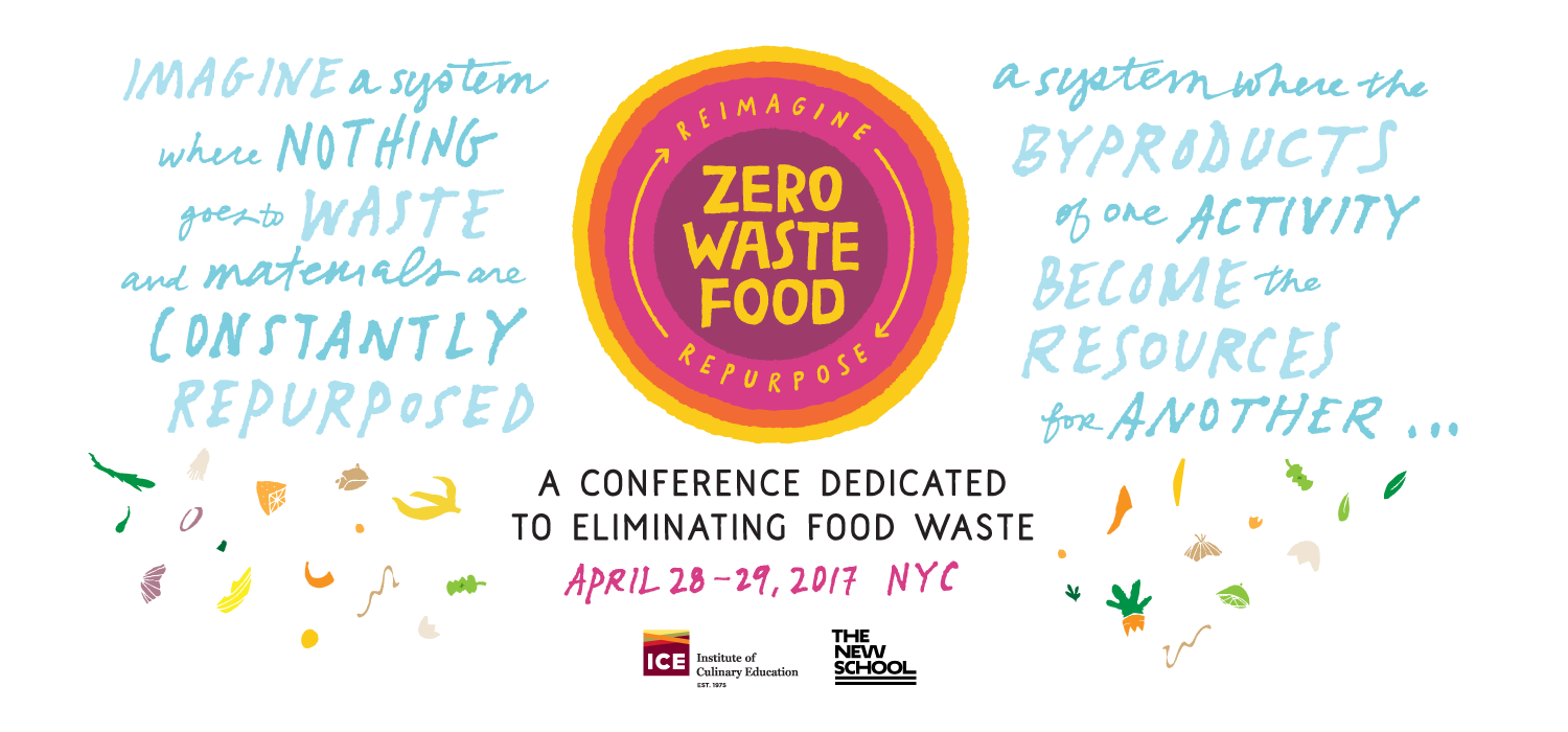 Zero Waste Food: Reimagine / Repurpose. A conference dedicated to eliminating food waste. April 28-29, 2017 / NYC