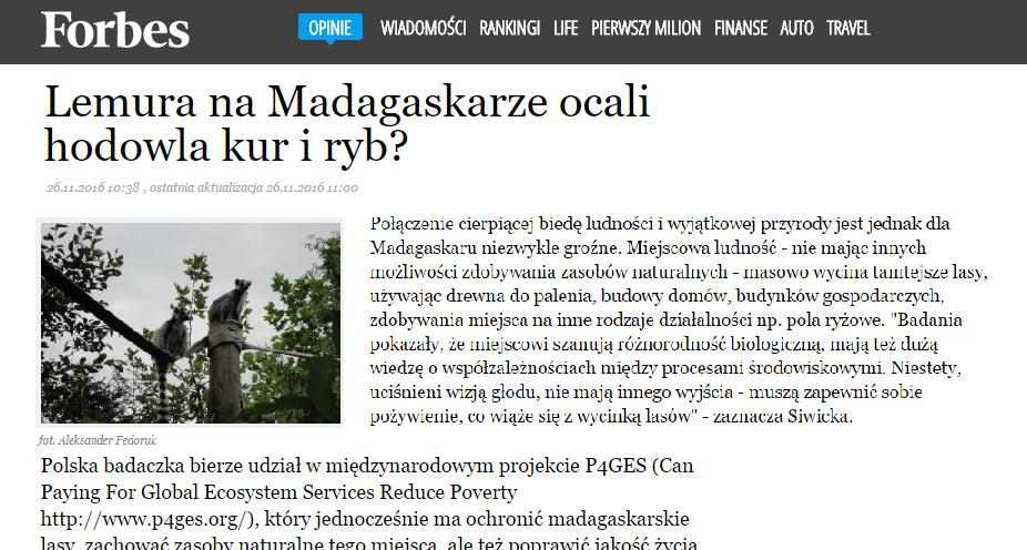 Lemura na Madagaskarze ocali hodowla kur i ryb? - forbes.pl