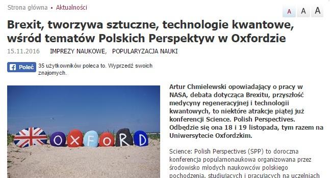 Brexit, tworzywa sztuczne, technologie kwantowe, wśród tematów Polskich Perspektyw w Oxfordzie - naukawpolsce.pap.pl