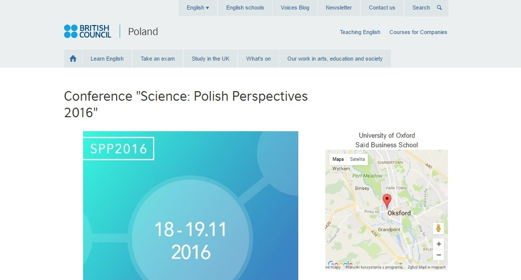 """Conference ''Science: Polish Perspectives 2016"""" - britishcouncil.pl"""