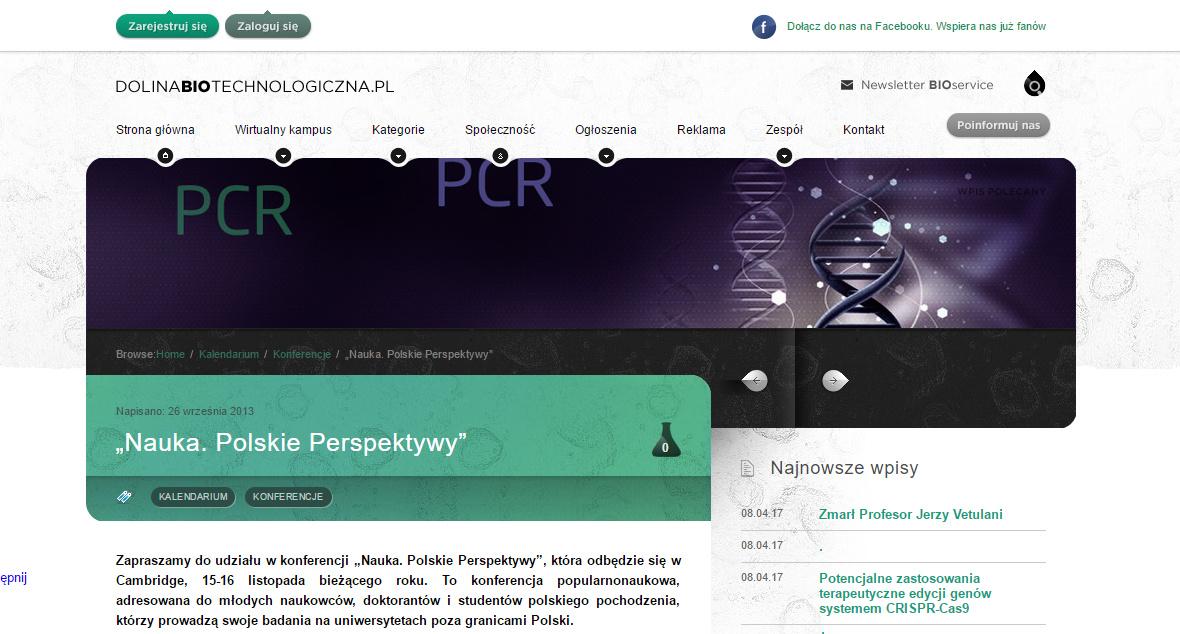 """,,Nauka. Polskie Perspektywy"""" - dolinabiotechnologiczna.pl"""