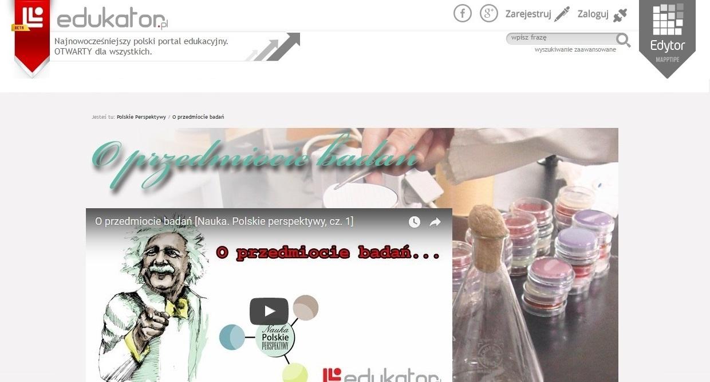 Nauka: Polskie Perspektywy - O przedmiocie badań - edukator.pl