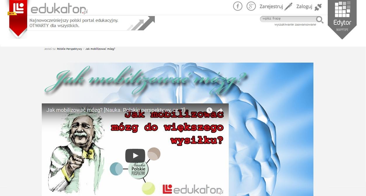 Nauka: Polskie Perspektywy - Jak mobilizować mózg? - edukator.pl