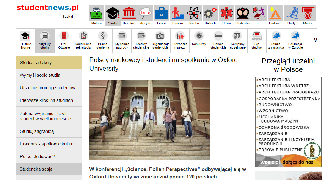 Polscy naukowcy i studenci na spotkaniu w Oxford University - studia.studentnews.p