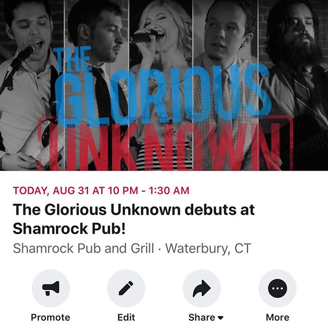 Tonight's the night! Come party! . . . #thegloriousunknown #tgu #tguband #coverband #femalefronted #femalevocalist #weddingband #partyband #corporateevents #corporatefunctions #available #forhire #booknow #theknot #website #linkinbio #tgubanddotcom #saturdaynight #livemusic #shamrockpub #partypartyparty