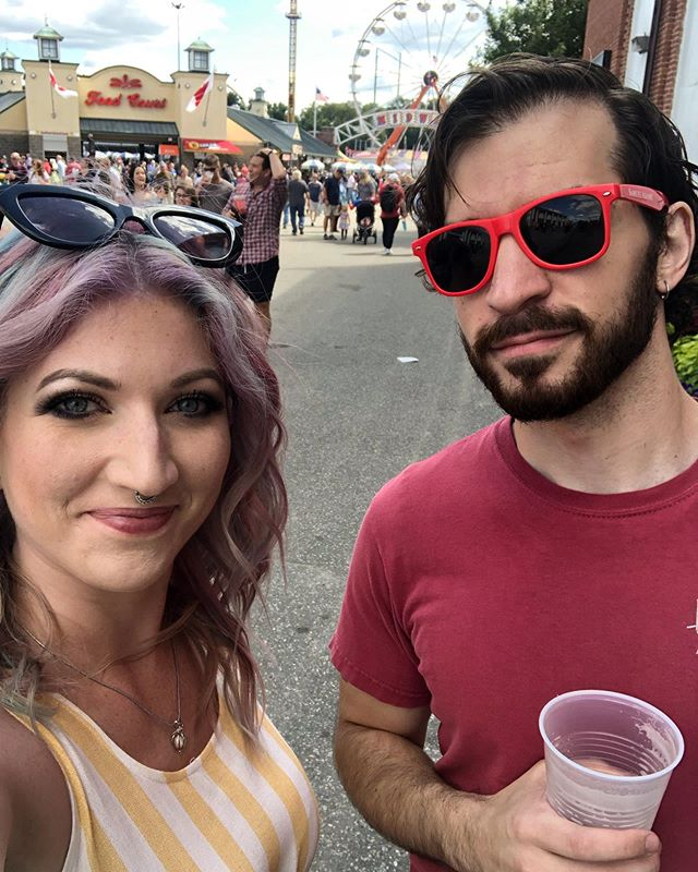 🎡BIG E🎡 You know the drill! Sarah and Andy will be wandering around all day, so if you see them say hi, and mention this post to get a FREE The Glorious Unknown sticker! And stay tuned...Monday 9/16 the whole band will be wandering around, and we'll have a special ONE DAY ONLY contest. Contest announcement will be Monday afternoon, so make sure you turn on notifications! . . . #thegloriousunknown #tgu #tguband #thebige #freestickers @thebigefair #adventuresofsarahandandy #friday #friyay #themostwonderfultimeoftheyear #comesayhi #contestalert #staytuned