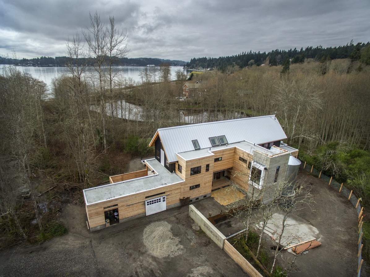 Jason McLennan's home, Heron Hall, is a tribute to his passion for regenerative artchitecture, the use of local materials and a desire to go net zero. It's on Bainbridge Island near Seattle, which is also the site for his groundbreaking School of Regenerative Architecture.