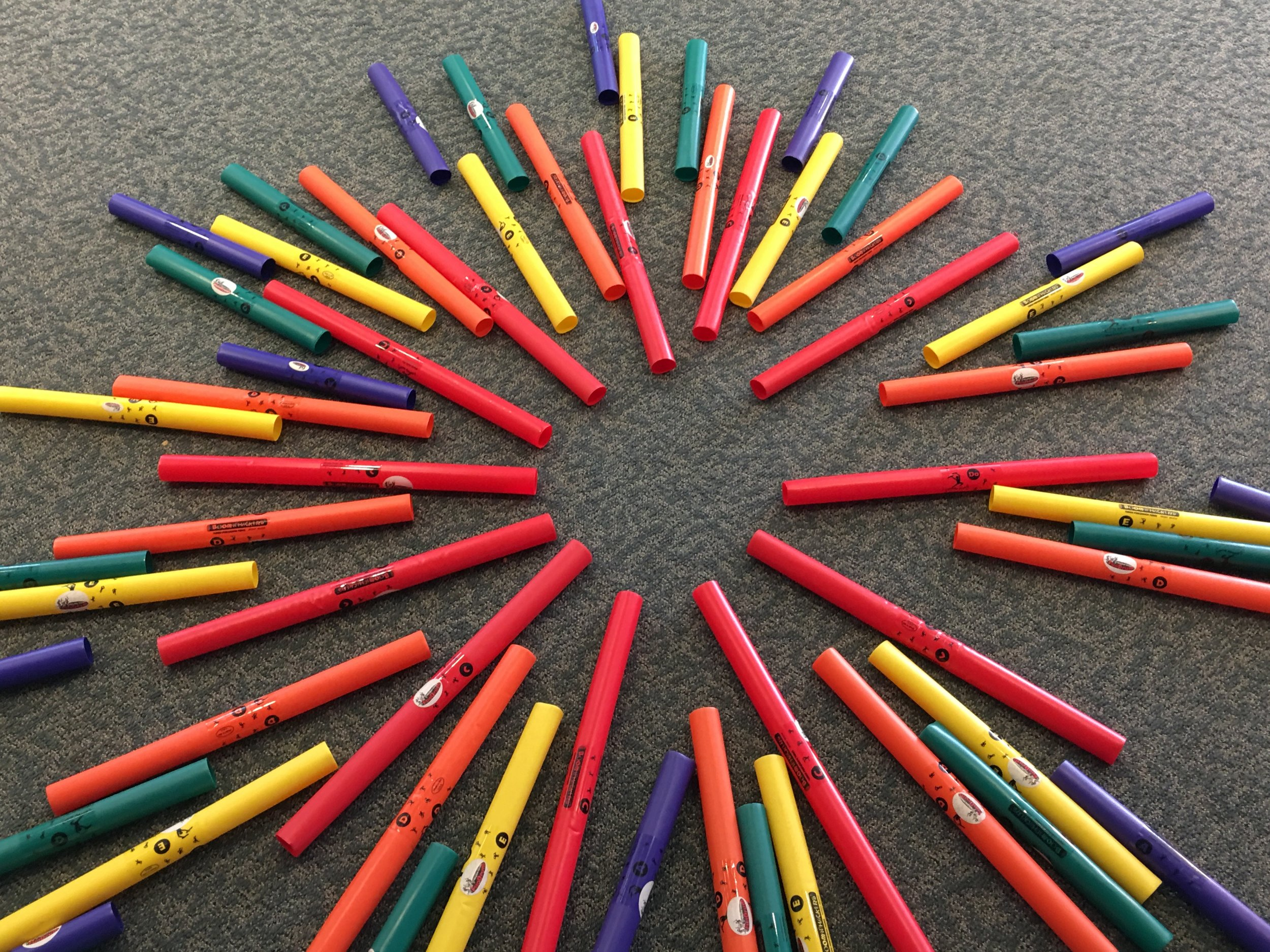 Pow! A burst of Boomwhackers!