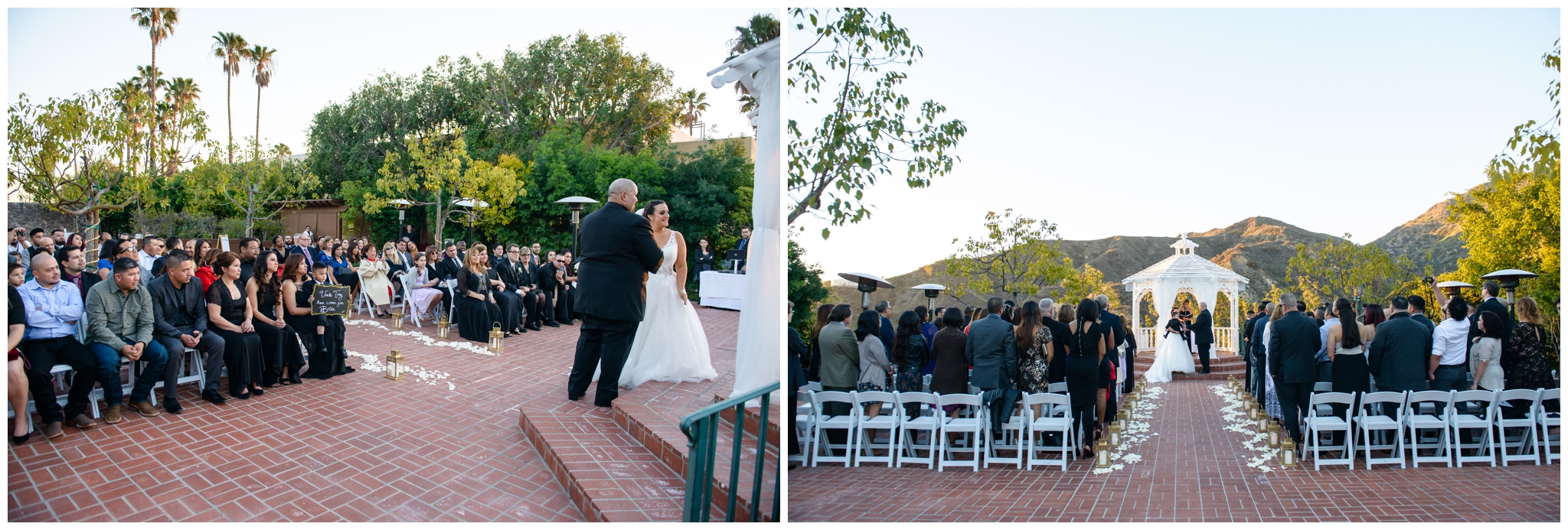 I think these photos here really show you just how big the ceremony are is and the beautiful view you and your guests will have.