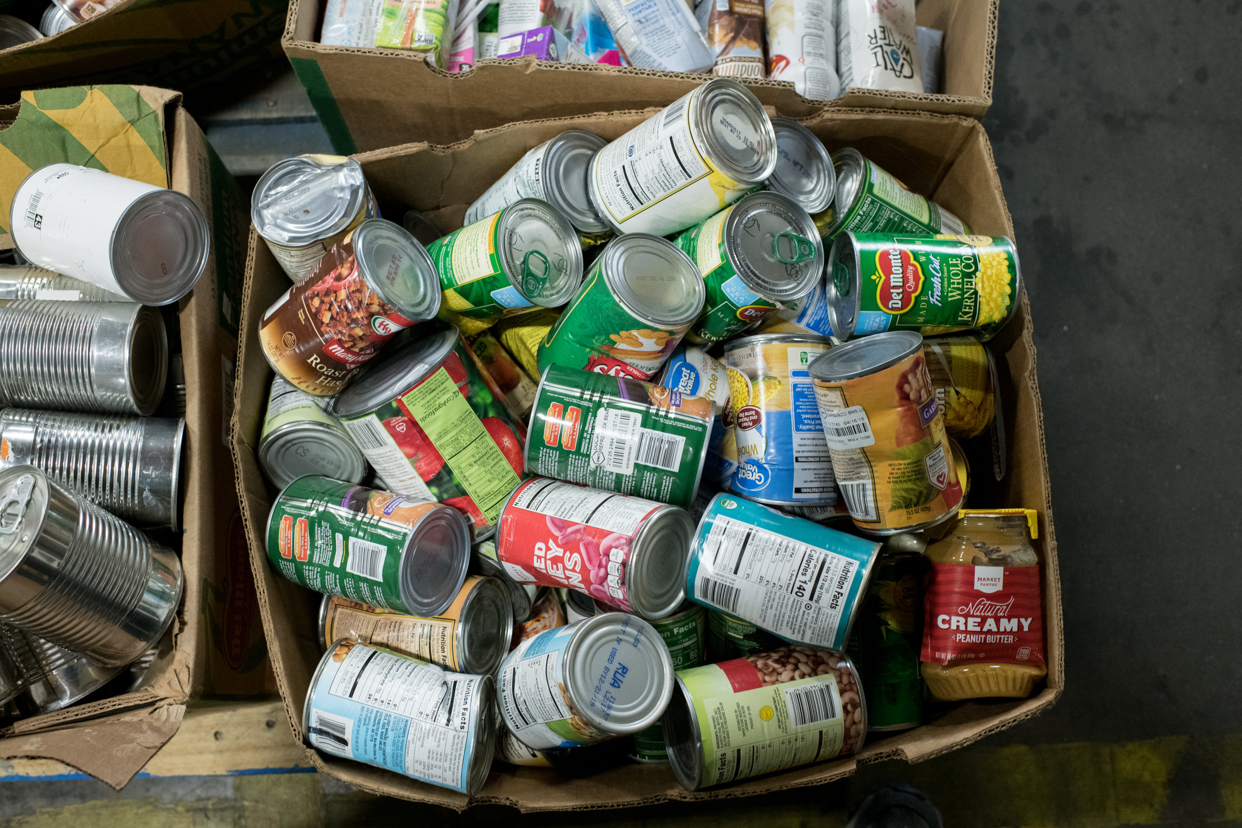 Most food at the food bank are non-perishables, high in sodium and preservatives. Photo by Lisa Richmond.