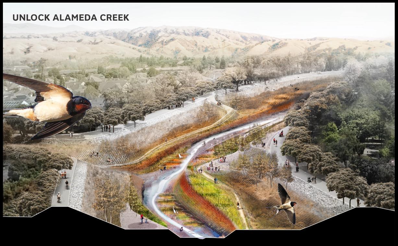 Unlocking Alameda Creek. Graphic by SCAPE Studio (2018).